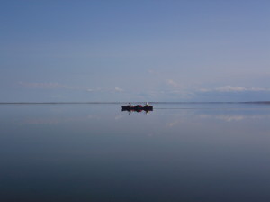 A canoe on the Gary Lakes