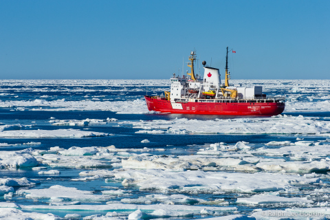 Canadian Arctic, Fury and Hecla Strait, Icebreaker Transit, Pierre Radisson