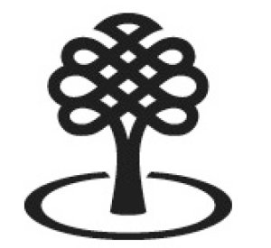 Canada council logo, black & white tree