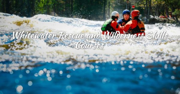 Rafters in white water