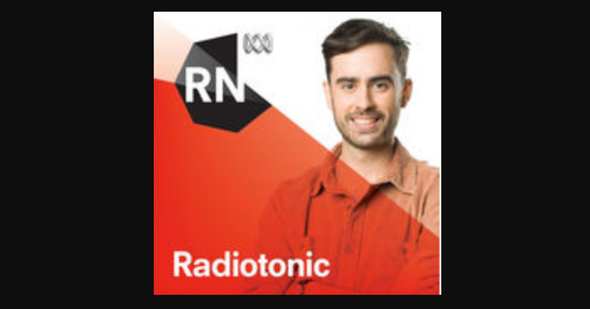 Radiotonic logo in red with black border