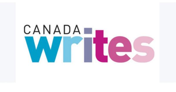 Canada Writes in multicoloured letters
