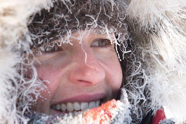 Jenny smiles in the snow.